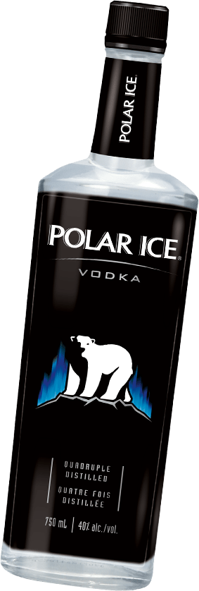 Bottle of Polar Ice Vodka