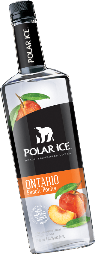 Bottle of Polar Ice Peach Vodka