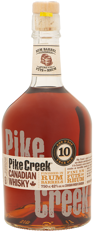 Bottle of Pike Creek Canadian Whisky